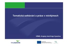 Podpora P-KAP - Kraj Vysočina