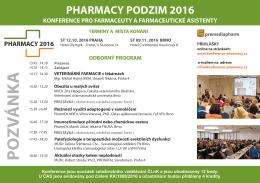 Pozvánka-Pharmacy Podzim 2016