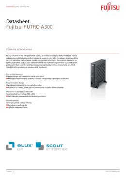 Datasheet Fujitsu FUTRO A300