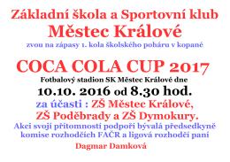 Základní škola a Sportovní klub 10.10. 2016 od 8.30 hod.