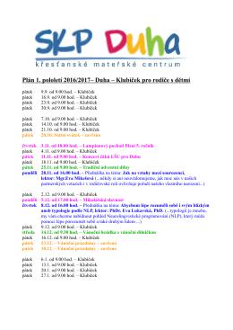 program I. pol. 2016/17