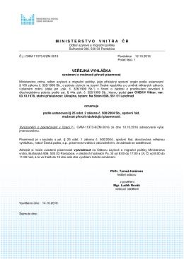 CHEKH Viktor - Ministerstvo vnitra České republiky