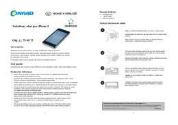 Vodotěsný obal pro iPhone 5 Obj. č.: 79 49 75