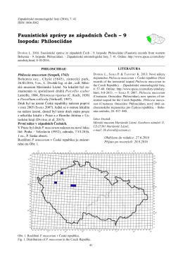 Faunistické zprávy ze západních Čech – 9 Isopoda: Philosciidae