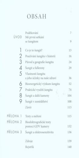 Poděkování 7 Mé první setkání se šungitem 9 1 Co je to šungit? 13 2