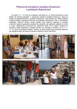 Přípravná schůzka k projektu Erasmus+ v polských Katowicích