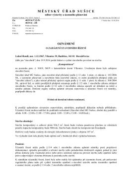 Veřejná vyhláška - kompostárna Vlkonice