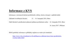 Informace z KVS