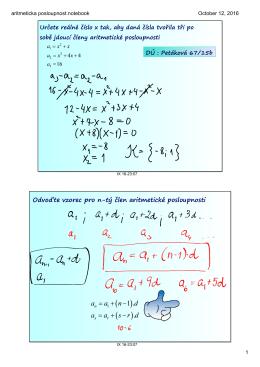 aritmeticka posloupnost.notebook