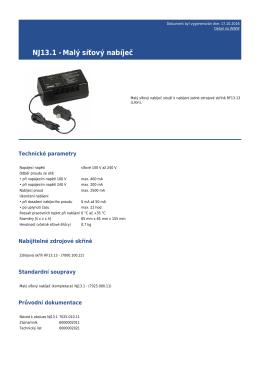 NJ13.1 - Malý síťový nabíječ