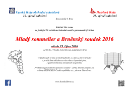Mladý sommelier a Brněnský soudek 2016