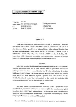 Usnesení - prodloužení zákon. lhůty pro vydání