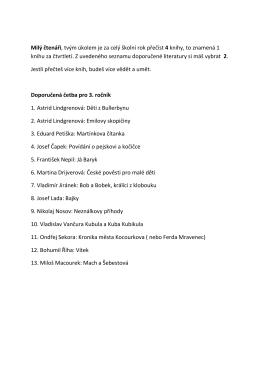 Seznam doporučené literatury pro 3. ročník