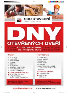 otevřených dveří - SOU stavební Plzeň