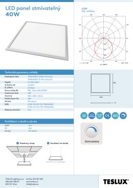 LED panel stmívatelný 40W