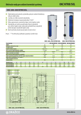 Zásobníky vody OKC NTRR/SOL