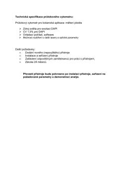 Příloha č. 1 - Technicke parametry
