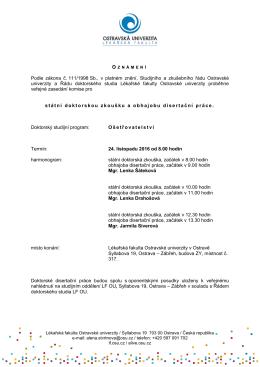 Podle zákona č. 111/1998 Sb., v platném znění