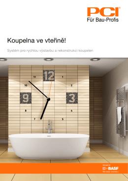 Systém pro rychlou výstavbu a rekonstrukci koupelen