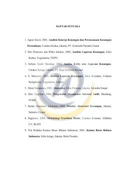 daftar pustaka - Widyatama Repository Home