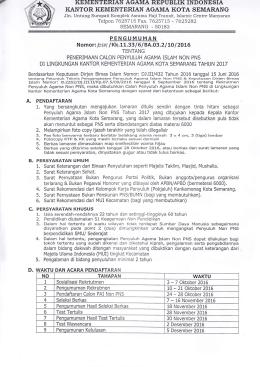 KEMENTERIAN AGAMA REPUBLIK INDONESIA I(ANTOR