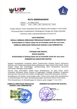 berkas - Situs Resmi ULP Kabupaten Badung