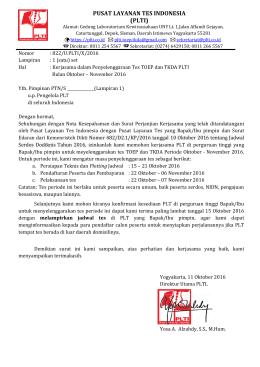 pusat layanan tes indonesia (plti)