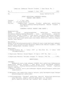 Lampiran Lembaran Daerah Tingkat I Jawa Barat No. 1 No. 5