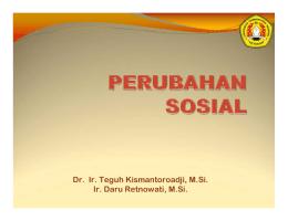 teori-teori pembangunan dalam perubahan sosial