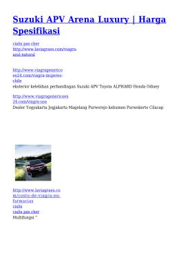 Suzuki APV Arena Luxury | Harga Spesifikasi