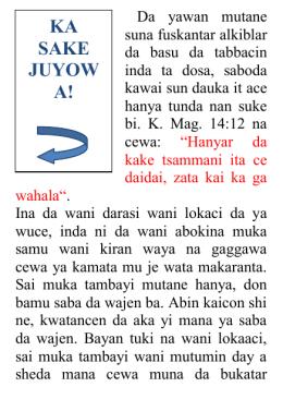 ka sake juyow a! - abundant life program