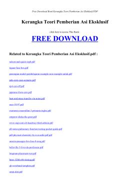 kerangka teori pemberian asi eksklusif free ebook