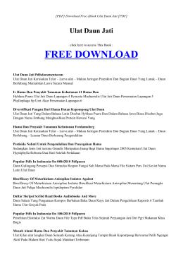 EBOOK ULAT DAUN JATI PDF