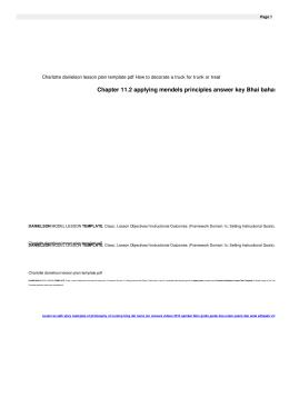 Charlotte danielson lesson plan template pdf