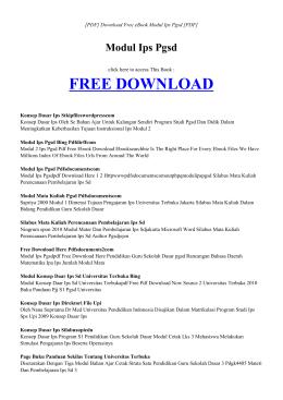 ebook modul ips pgsd pdf