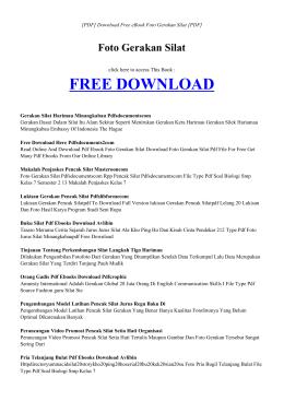 ebook foto gerakan silat pdf