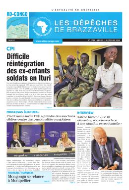 Difficile réintégration des ex-enfants soldats en Ituri