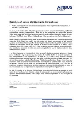 Rodin Lyasoff nommé à la tête du pôle d`innovation A