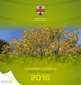 Calendrier écologique 2016