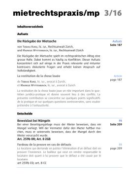 Inhaltsverzeichnis der aktuellen mp