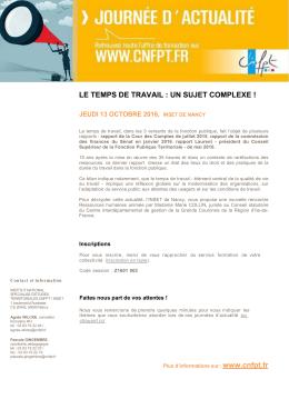 Programme - Le CNFPT