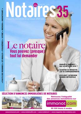 Journal des notaires notaires 35 - Chambre des notaires d ille et vilaine ...