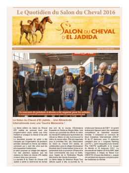 Le Quotidien du Salon du Cheval 2016