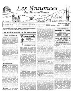 Ahv 16 OCT 14 - Imprimerie Fleurent