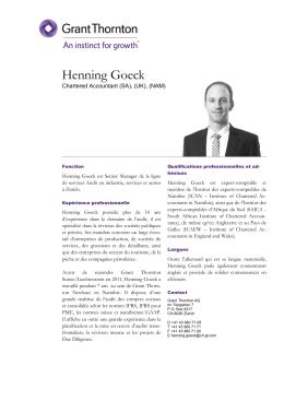 Henning Goeck - Grant Thornton