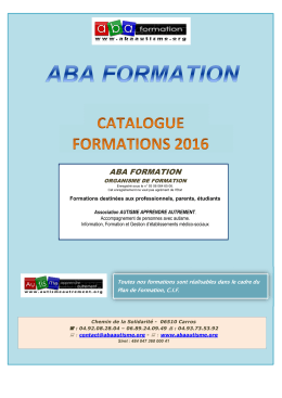 catalogue abaformation annee 2016