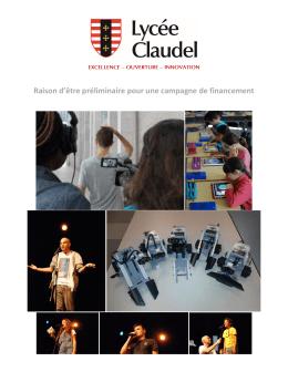 Raison d`être - La Fondation du Lycée Claudel