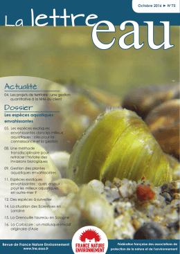 La lettre eau - France Nature Environnement