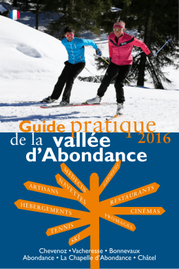 Guide pratique - Vallée d`Abondance