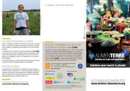 Programme du Festival Alimenterre 2016